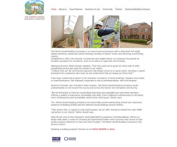 Martin Sewell Building Company - previous website